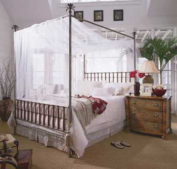 canopy bed against the - photo #20